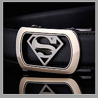 Мужской ремень из натуральной кожи Superman, фото 1