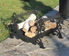 Декоративная дровница из стали, фото 3