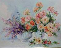 «Когда цветут, благоухая, розы» картина маслом