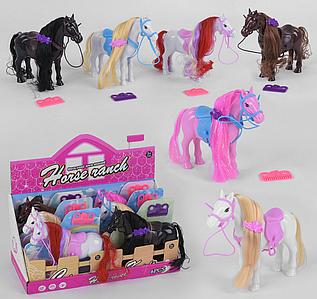 Набор лошадей разной масти с аксессуарами Horse ranch