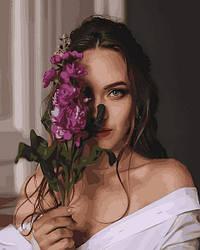 Картина по номерам Mariposa Девушка с орхидеями (MR-Q2262) 40 х 50 см