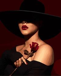Картина по номерам Mariposa Леди с розой (MR-Q2265) 40 х 50 см