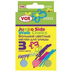 Мел цветной VGR 25103 3шт, картонная упаковка