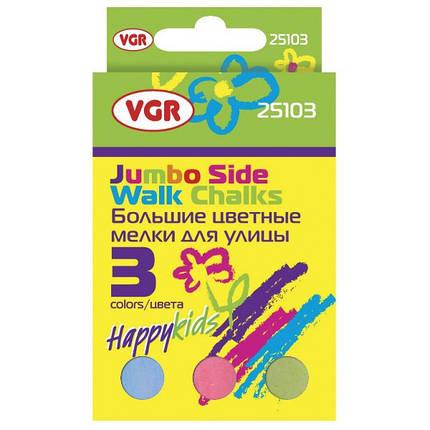 Мел цветной VGR 25103 3шт, картонная упаковка, фото 2