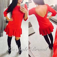 Модное платье с вырезам на спине