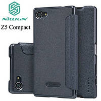 Чехол книжка кожаный Nillkin Sparkle Leather Case для Sony Xperia Z5 Compact E5823 Black