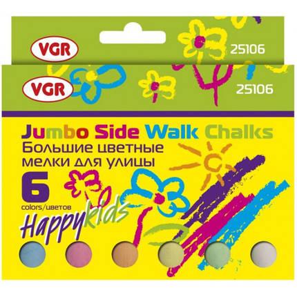 Мел цветной VGR 25106 6шт, картонная упаковка, фото 2