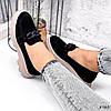 Лоферы Слипоны женские замша черные, фото 2