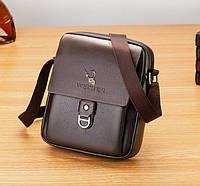Сумка барсетка мужская через плечо WEIXIER, сумка - мессенджер, кросс-боди