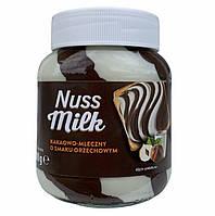Шоколадно-молочная паста с лесным орехом Nuss Milk (оранжевая) 400 г.