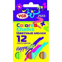 Мел цветной VGR 25113, 12 шт, картонная упаковка