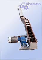 Цепной транспортер Гусиная шея - ТЦС скребковый