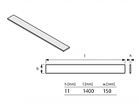 Компенсационный изоляционный элемент Uponor Tecto 11 мм