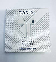 Наушники bluetooth tws12+  white