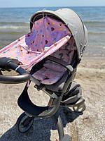 "Сонцезахисна шторка на коляску ""Ice Cream"", фото 1"