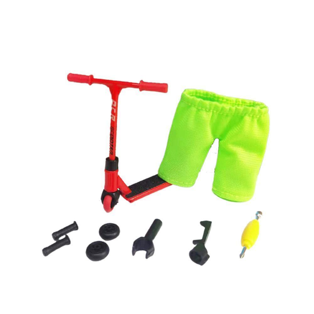 Фингер самокат + штаны, запчасти, фингерскут, finger scooter (красный)