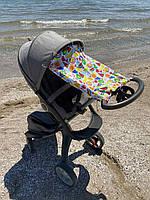 """Солнцезащитная шторка на коляску """"Fruits"""""""