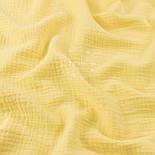 Отрез двухслойного муслина, цвет лимонный, размер 90*135 см, фото 3
