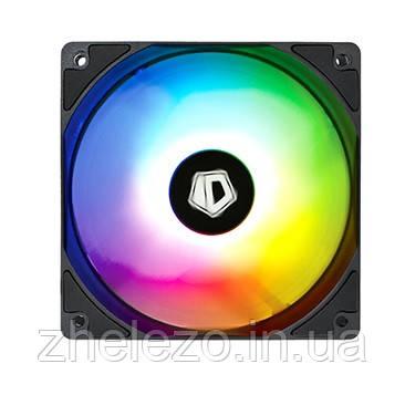 Вентилятор ID-Cooling XF-12025-ARGB (Single Pack), 120х120х25мм, 4-pin PWM, чорний c білим