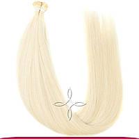 Натуральные славянские волосы на капсулах 55-60 см 100 грамм, Блонд №60