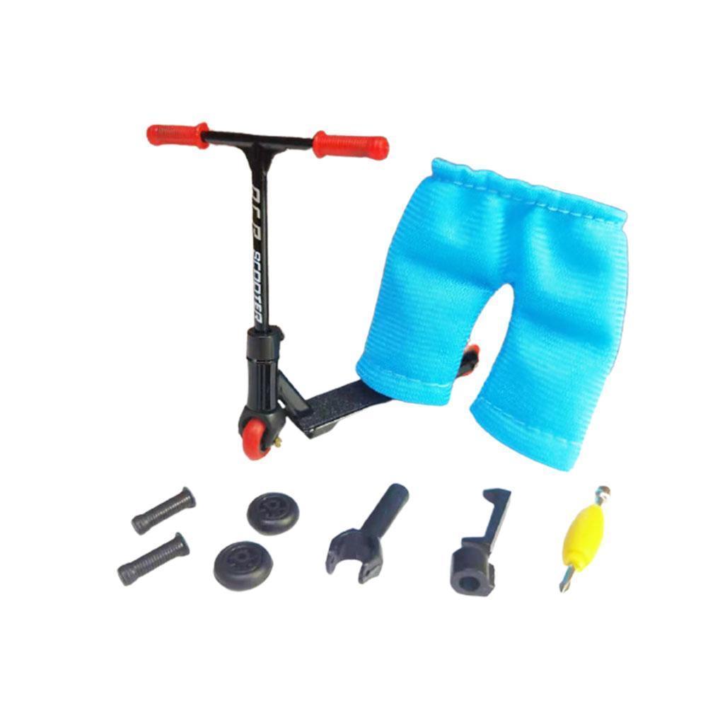 Фінгер самокат + штани, запчастини, фингерскут, finger scooter (чорний)