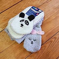 Теплі дитячі шкарпетки, набір 2 шт, розмір 31-34 (6-8 років), колір білий і світло-сірий