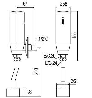Устройство инфракрасное для писсуара TRES TRONIC 112206, фото 2
