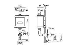 Кран сенсорный для писсуара TRES TRONIC 112207, фото 2