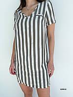 Платье-туника в полоску летнее 5099 ЕС