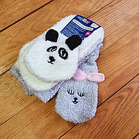 Теплі дитячі шкарпетки, набір 2 шт, розмір 27-30 (4-6 років), колір білий і світло-сірий