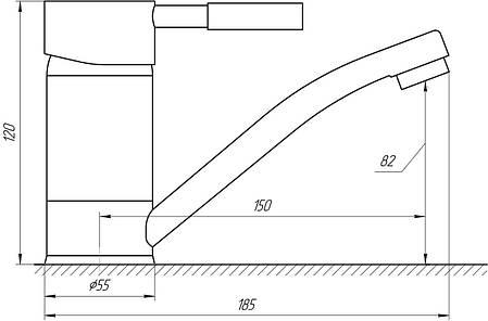 Змішувач для умивальника Globus Lux LAZER1 GLLR1-203М-BIG, фото 2