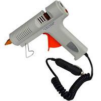 Пистолет клеящий под клей 11мм, 12V 60W CE, с штекером к автоприкуривателю, в блистере