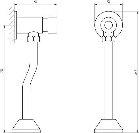 Кран-дозатор для писсуара TOPAZ TP-0201, фото 2
