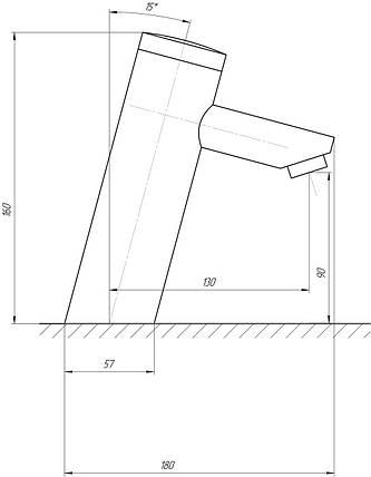 Монокран інфрачервоний для умивальника TREMOLADA TREMO-8501 BATTERY, фото 2