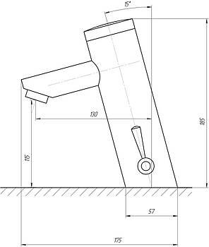 Змішувач інфрачервоний для умивальника TREMOLADA TREMO-8503, фото 2