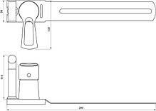 Змішувач для біде Globus Lux SEVA GLSV-0206, фото 3