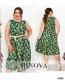 Жіночна сукня батал без рукавів, великого розміру 46-48, 50-52, 54-56, 58-60, 62-64, 66-68, фото 3