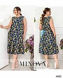 Жіночна сукня батал без рукавів, великого розміру 46-48, 50-52, 54-56, 58-60, 62-64, 66-68, фото 4