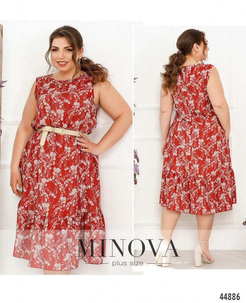 Жіночна сукня батал без рукавів, великого розміру 46-48, 50-52, 54-56, 58-60, 62-64, 66-68