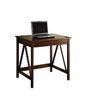 Стол письменный компьютерный из массива дерева 042