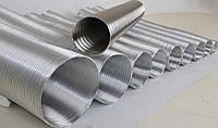 Гофра алюминиевая вентиляционная диаметром 135, гофра к вытяжке на кухню