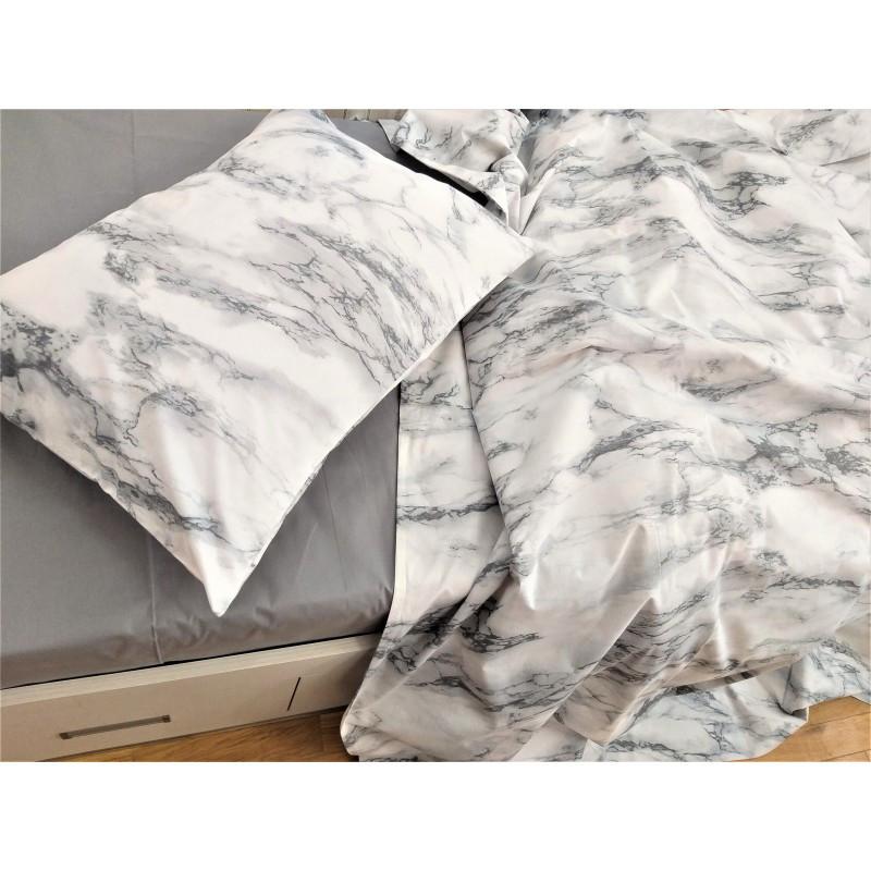 Постельное белье Мрамор ранфорс Lux ТМ Царский дом  (Двуспальный)