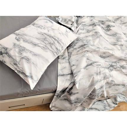 Постельное белье Мрамор ранфорс Lux ТМ Царский дом  (Двуспальный), фото 2