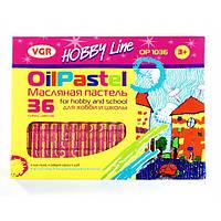 Мел (пастель масляная) VGR Hobby Line ОР1036, 36 цветов