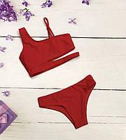 Красный купальник для девочки 14-16 лет