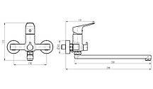 Смеситель для ванны TOPAZ ZARA TZ-13208-H37, фото 3