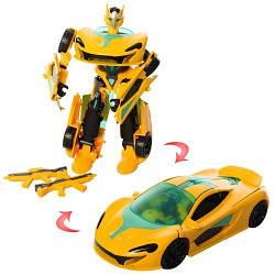 6105 Трансформер металл, 18см, робот+машина, в кор-ке, 20,5-27-10см