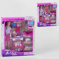 Кукла доктор Педиатр JX 100-23 с младенецем, мебелью и медицинскими инструментами, игровой набор для девочек