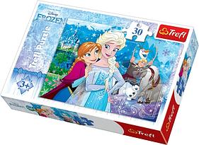 Игра головоломка пазлдисней Холодное сердце Выпустить чудо, Ледяное сердце 30 элементовTrefl Disney Frozen