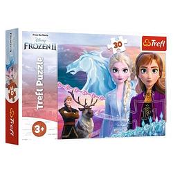Игра головоломка пазлдисней Холодное сердце 2 Магия сестер, Ледяное сердце 30 элементовTrefl Disney Frozen 2